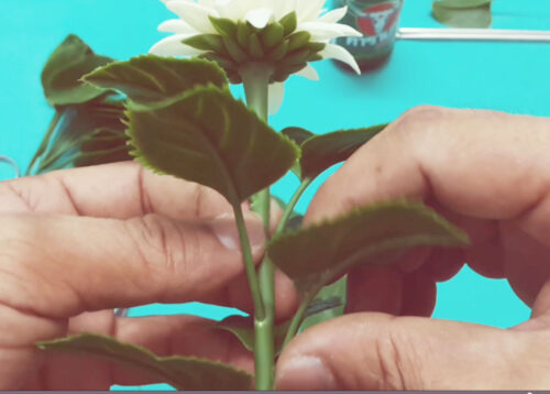 How to make clay flower tutorial