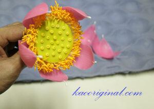วิธีทำดอกไม้ดิน ดอกบัวพับ How to Fold a lotus clay flower.