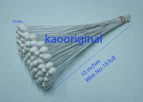 Jasmine flower buds 10 mm ( 100 pcs ) Wire #18 x 10 Buds 10 mm