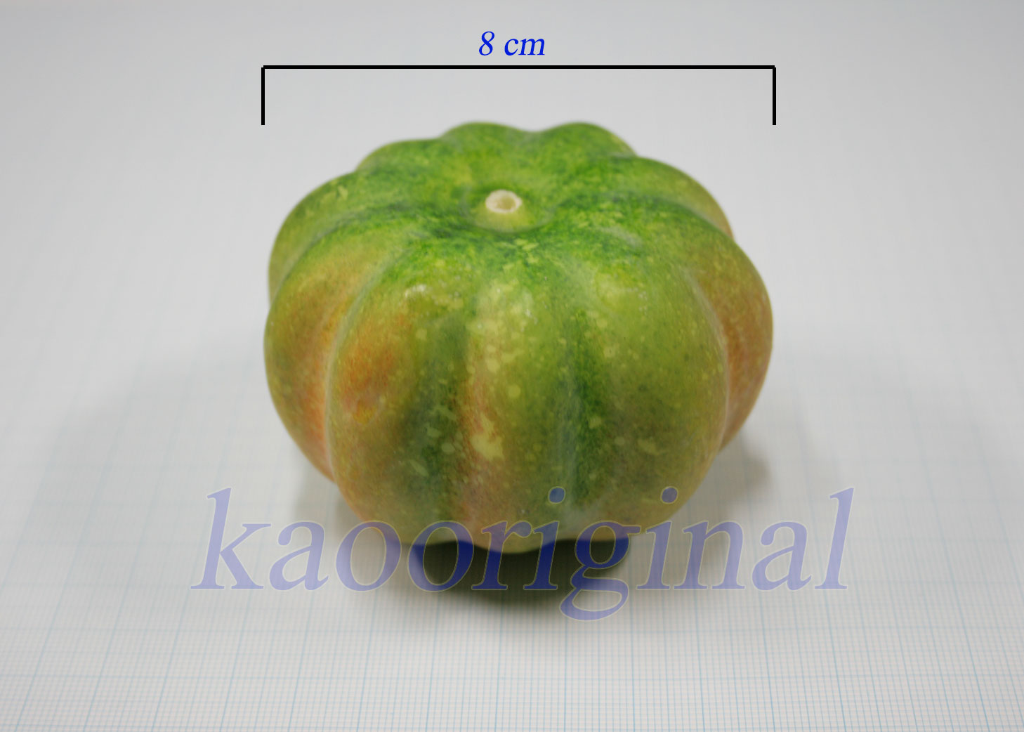 Artificial pumpkin 8 cm <br> ฟักทอง 8 cm <br> SKU: 9011 - 1 Green spot