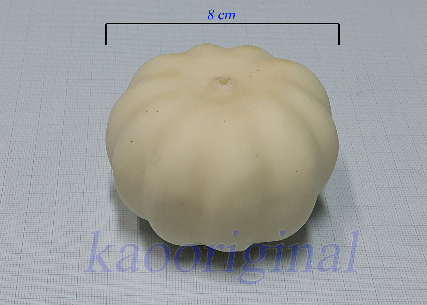 Artificial pumpkin 8 cm <br> ฟักทอง 8 cm <br> SKU: 9011 - 3 White cream