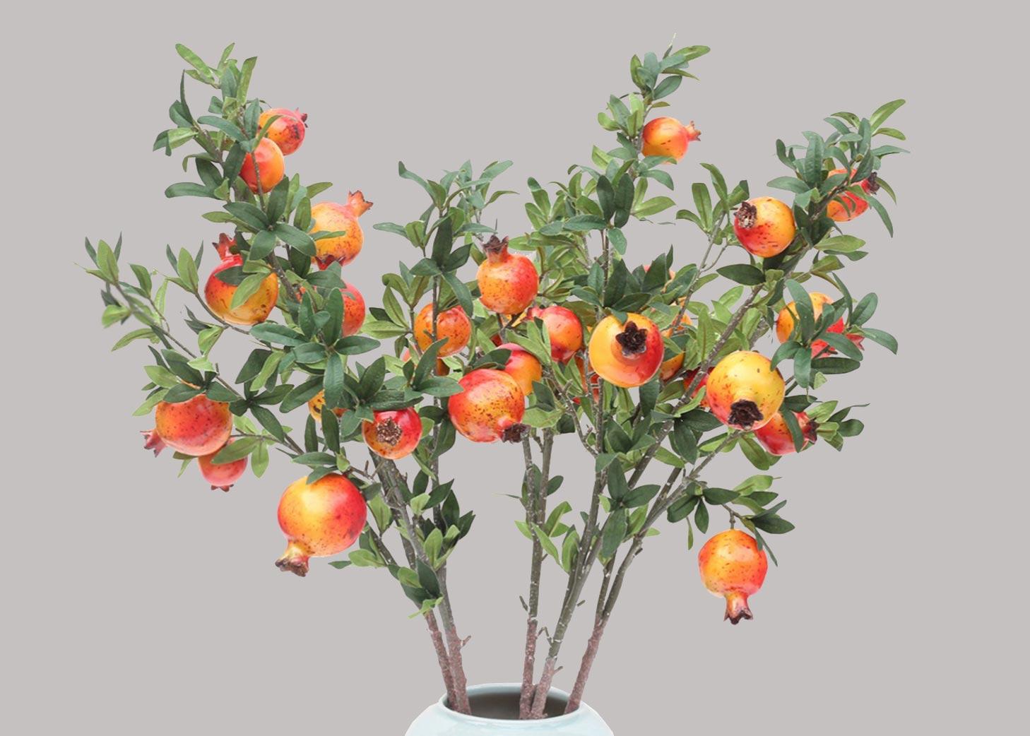 Pomegranate branches <br> กิ่งทับทิม <br> SKU: 11001 - Orange