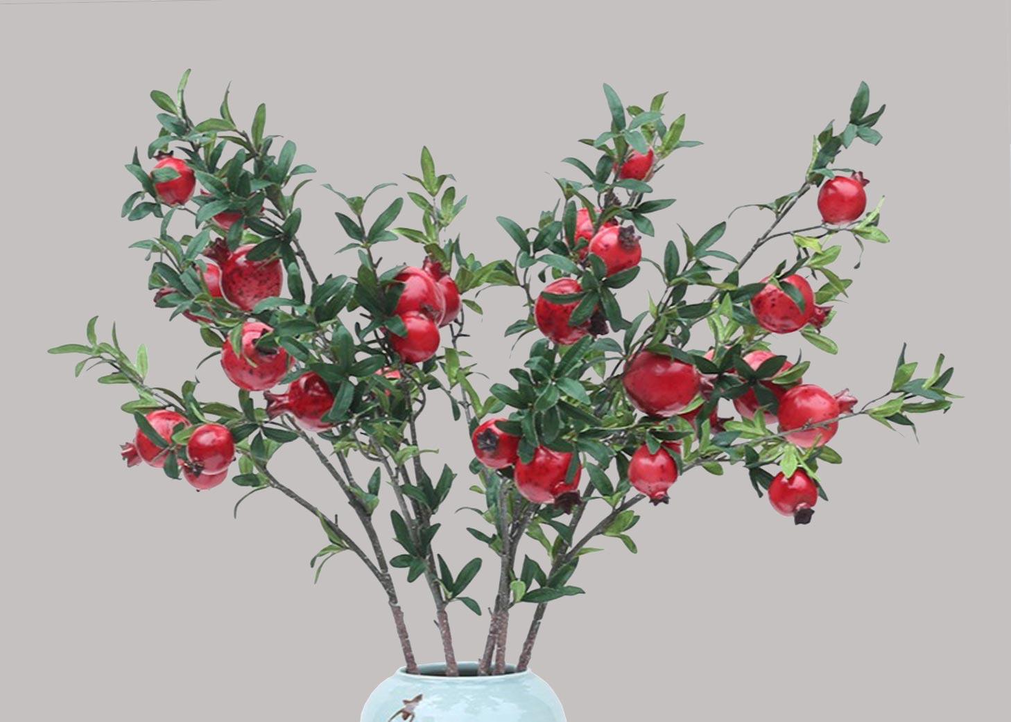 Pomegranate branches <br> กิ่งทับทิม <br> SKU: 11001 - Red
