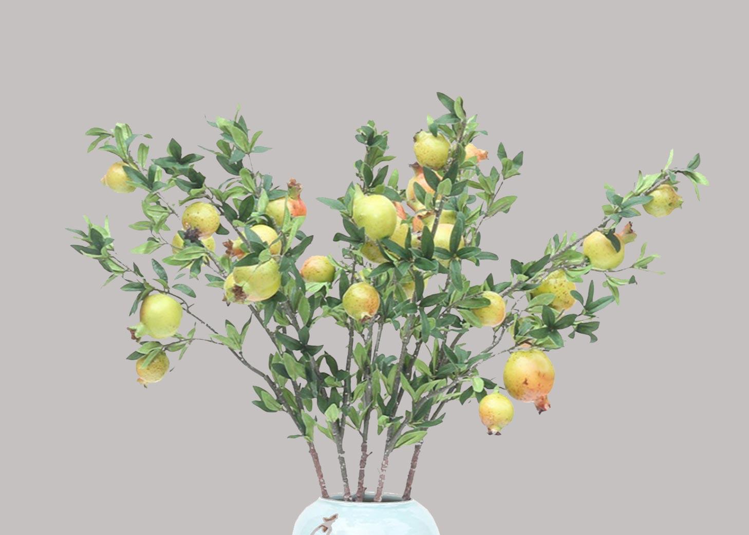 Pomegranate branches <br> กิ่งทับทิม <br> SKU: 11001 - Green